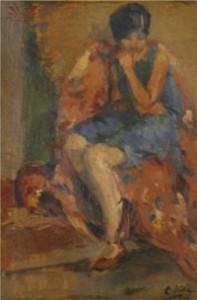 A Timidez de Judith. De Alfredo Volpi, 1938.